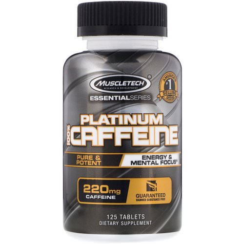 Muscletech, Essential Series, Platinum 100% Caffeine, 220 mg, 125 Tablets Review