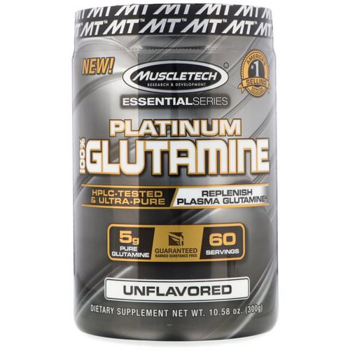 Muscletech, Essential Series, Platinum 100% Glutamine, 5 g, 10.58 oz (300 g) Review