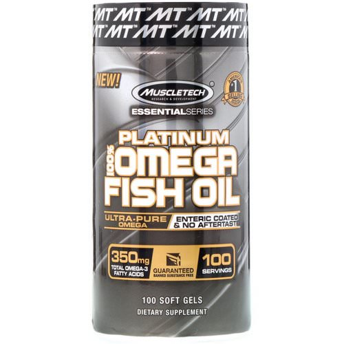 Muscletech, Essential Series, Platinum 100% Omega Fish Oil, 100 Soft Gels Review