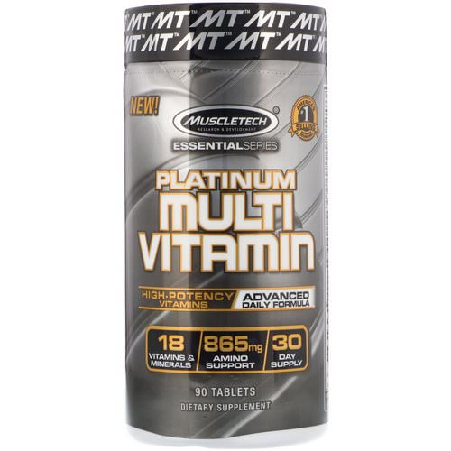 Muscletech, Essential Series, Platinum Multi Vitamin, 90 Tablets Review