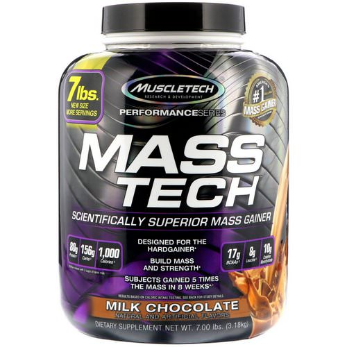 Muscletech, Mass-Tech, Scientifically Superior Mass Gainer Protein Powder, Milk Chocolate, 7.00 lb (3.18 kg) Review