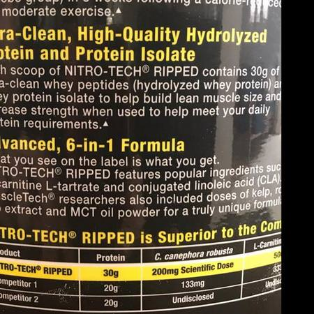 Muscletech, Whey Protein Blends, Diet Formulas