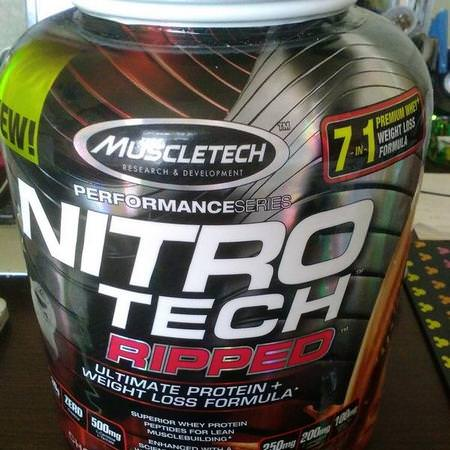 Muscletech, Nitro Tech Ripped, Ultimate Protein + Weight Loss Formula, Chocolate Fudge Brownie, 2 lbs (907 g) Review