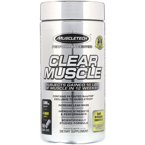 Muscletech, Performance Series, Clear Muscle, 168 Liquid Caps Review