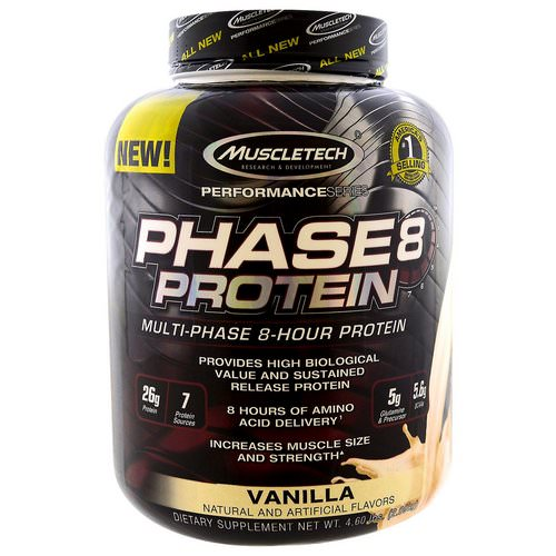 Muscletech, Performance Series, Phase8, Multi-Phase 8-Hour Protein, Vanilla, 4.60 lbs (2.09 kg) Review