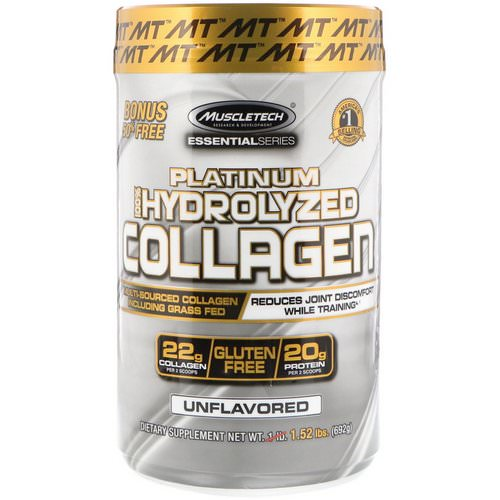 Muscletech, Platinum 100% Hydrolyzed Collagen, Unflavored, 1.52 lbs (692 g) Review
