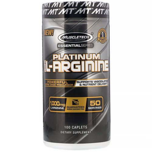 Muscletech, Platinum 100% L-Arginine, 1,000 mg, 100 Caplets Review