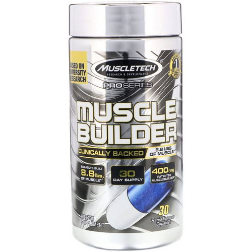 Muscletech, Pro Series, Muscle Builder, 30 Rapid-Release Capsules Review