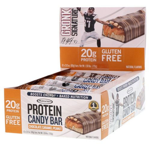 Muscletech, Protein Candy Bar, Chocolate Caramel Peanut, 12 Bars, 2.12 oz (60 g) Each Review