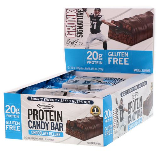 Muscletech, Protein Candy Bar, Chocolate Deluxe, 12 Bars, 2.12 oz (60 g) Each Review