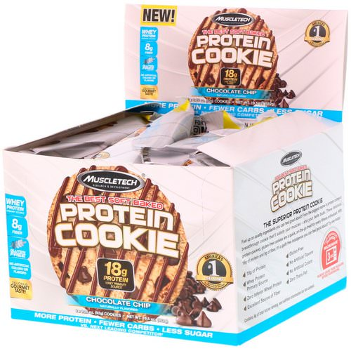 Muscletech, The Best Soft Baked Protein Cookie, Chocolate Chip, 6 Cookies, 3.25 oz (92 g) Each Review