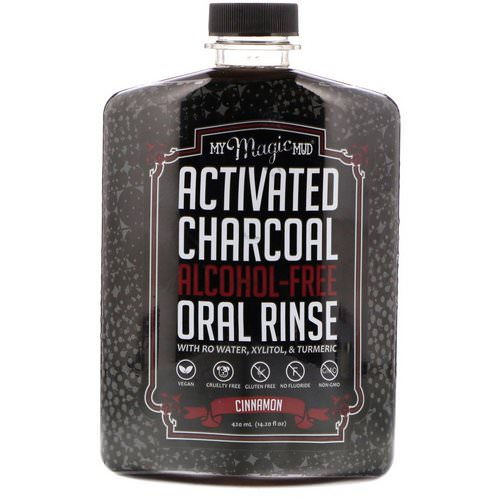 My Magic Mud, Activated Charcoal, Alcohol-Free Oral Rinse, Cinnamon, 14.20 fl oz (420 ml) Review