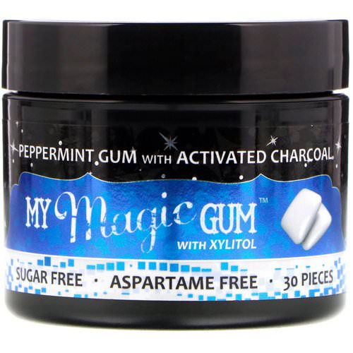 My Magic Mud, My Magic Gum with Xylitol and Activated Charcoal, Peppermint, 30 Pieces Review