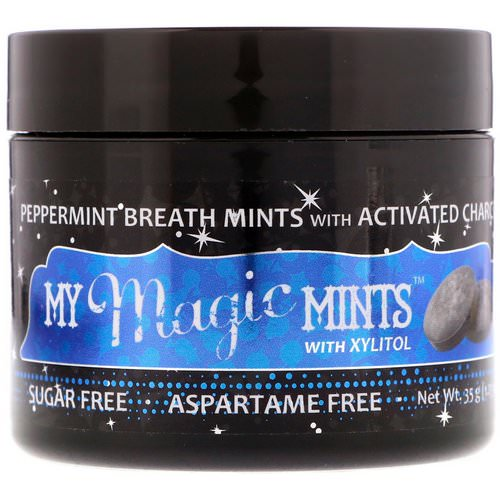 My Magic Mud, My Magic Mints with Xylitol and Activated Charcoal, Peppermint, 1.23 oz (35 g) Review