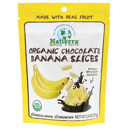 Natierra, Organic Freeze-Dried, Chocolate Banana Slices, 2.5 oz (71 g) Review