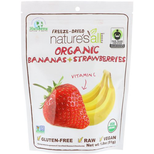 Natierra, Organic Freeze-Dried, Bananas + Strawberries, 1.8 oz (51 g) Review