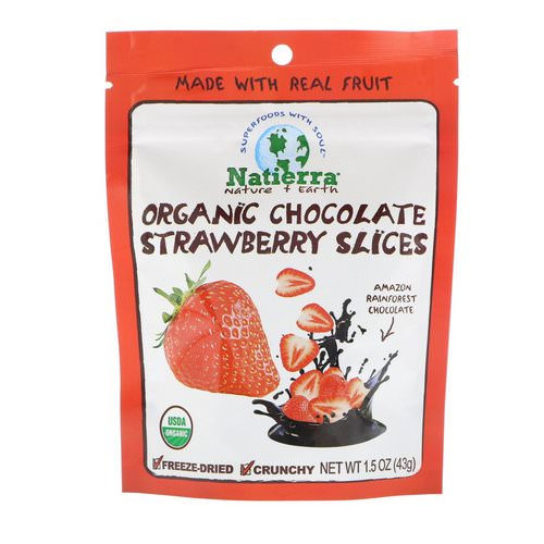 Natierra, Organic Freeze-Dried, Chocolate Strawberry Slices, 1.5 oz (43 g) Review