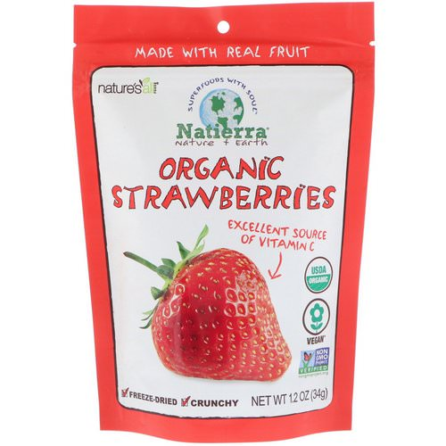 Natierra, Organic Freeze-Dried, Strawberries, 1.2 oz (34 g) Review