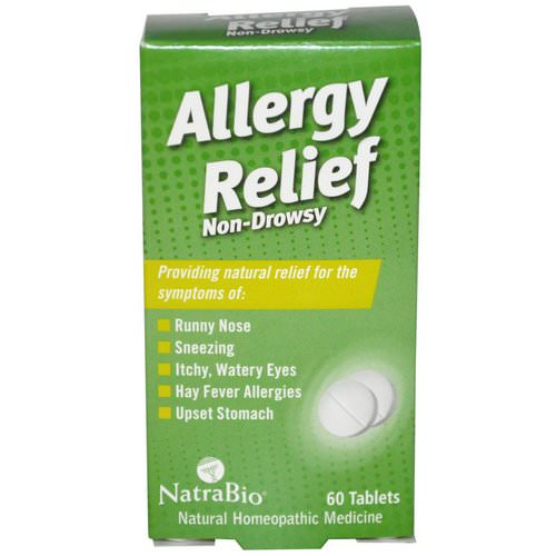 NatraBio, Allergy Relief, Non-Drowsy, 60 Tablets Review
