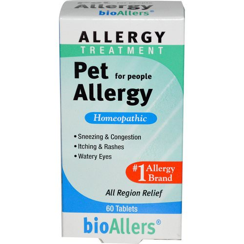 NatraBio, bioAllers, Allergy Treatment, Pet Allergy for People, 60 Tablets Review