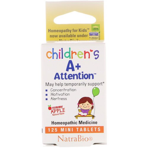 NatraBio, Children's A+ Attention, Yummy Apple, 125 Mini Tablets Review