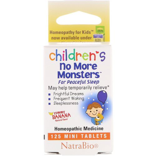 NatraBio, Children's No More Monsters, Yummy Banana, 125 Mini Tablets Review