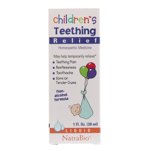 NatraBio, Children's Teething Relief, Non-Alcohol Formula, Liquid, 1 fl oz (30 ml) Review