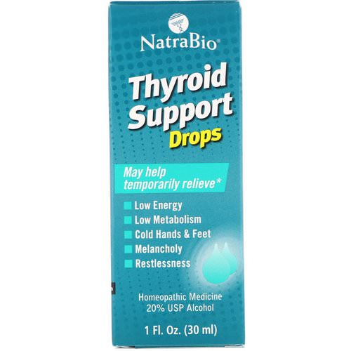 NatraBio, Thyroid Support Drops, 1 fl oz (30 ml) Review