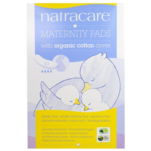 Natracare, Maternity Pads with Organic Cotton Cover, 10 Pads Review