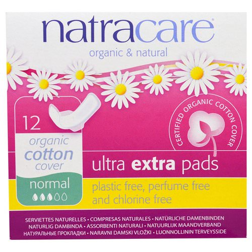 Natracare, Organic & Natural, Ultra Extra Pads, Normal, 12 Pads Review