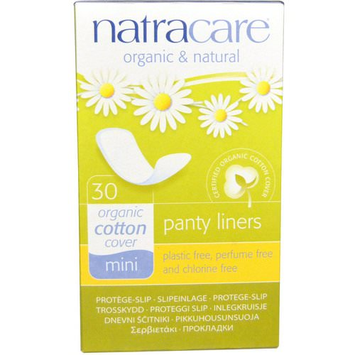 Natracare, Panty Liners, Organic Cotton Cover, Mini, 30 Liners Review