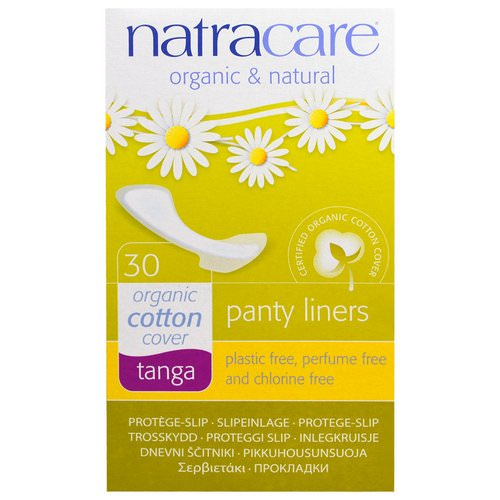 Natracare, Panty Liners, Organic Cotton Cover, Tanga, 30 Liners Review