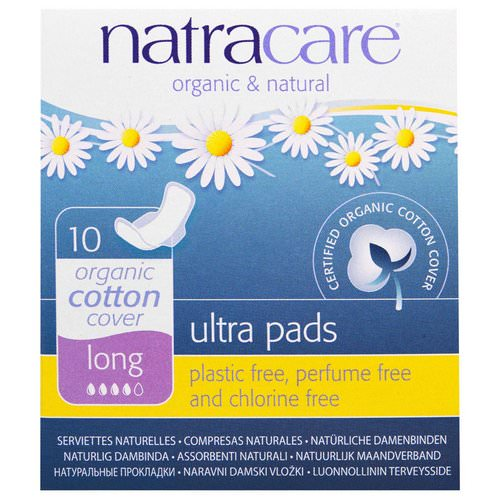 Natracare, Ultra Pads, Organic Cotton Cover, Long, 10 Pads Review