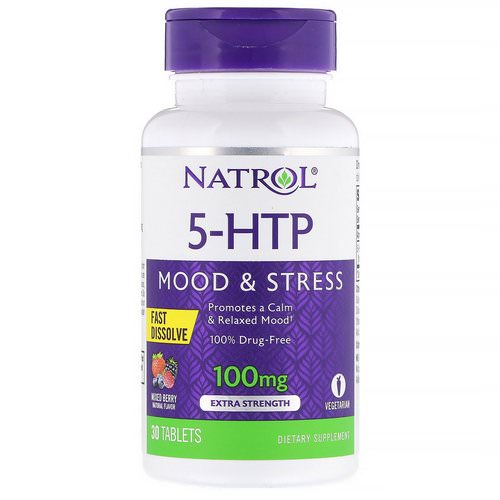 Natrol, 5-HTP, Fast Dissolve, Extra Strength, Wild Berry Flavor, 100 mg, 30 Tablets Review
