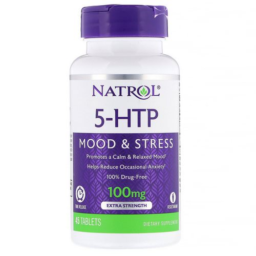 Natrol, 5-HTP, Time Release, Extra Strength, 100 mg, 45 Tablets Review