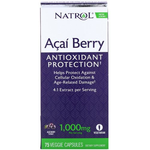 Natrol, Acai Berry, 1,000 mg, 75 Veggie Caps Review