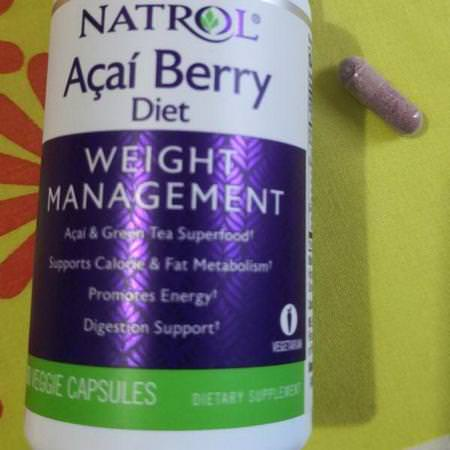 Natrol, Acai Berry Diet, Acai & Green Tea Superfoods, 60 Veggie Capsules Review