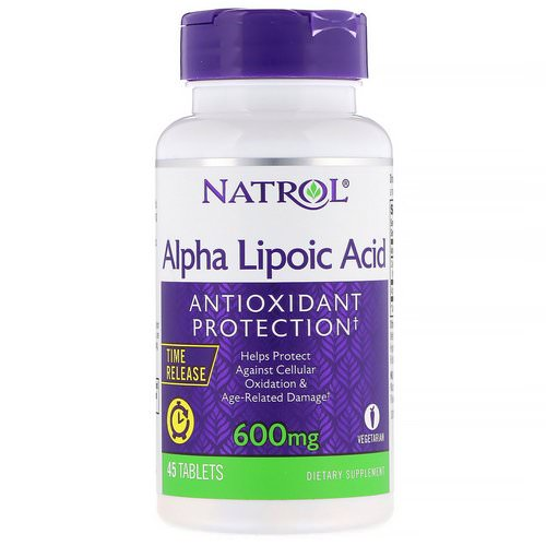 Natrol, Alpha Lipoic Acid, Time Release, 600 mg, 45 Tablets Review