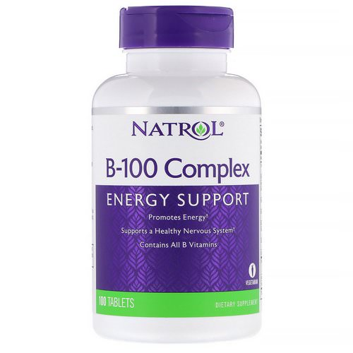 Natrol, B-100 Complex, 100 Tablets Review