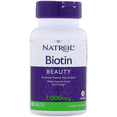 Natrol, Biotin, 1000 mcg, 100 Tablets Review