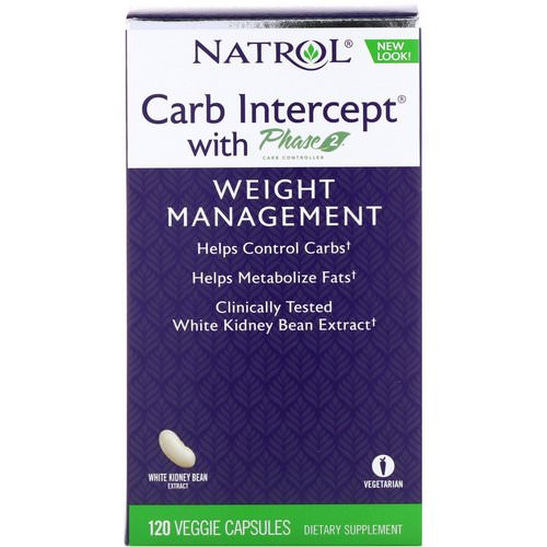 Natrol, Carb Intercept with Phase 2 Carb Controller, 1000 mg, 120 Veggie Capsules Review