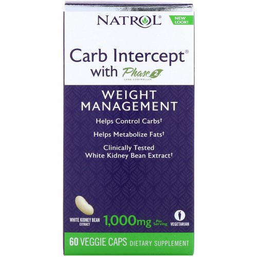 Natrol, Carb Intercept with Phase 2 Carb Controller, 1000 mg, 60 Veggie Caps Review