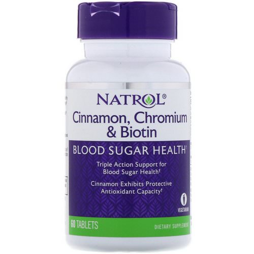 Natrol, Cinnamon, Chromium & Biotin, 60 Tablets Review