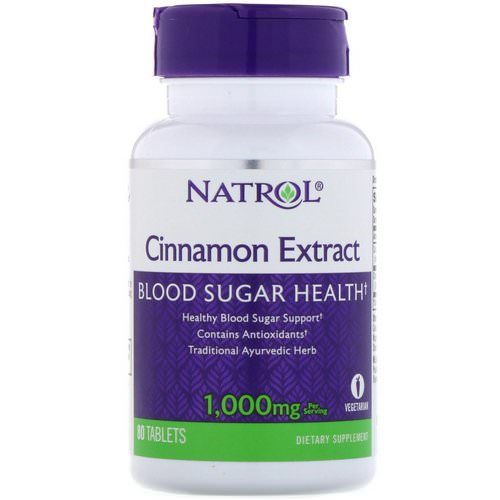 Natrol, Cinnamon Extract, 1,000 mg, 80 Tablets Review