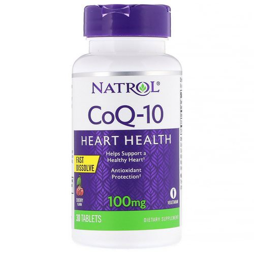 Natrol, CoQ-10, Fast Dissolve, Cherry, 100 mg, 30 Tablets Review