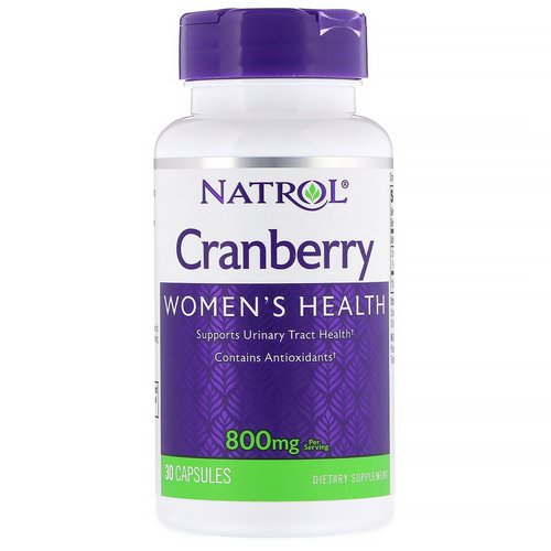 Natrol, Cranberry, 800 mg, 30 Capsules Review