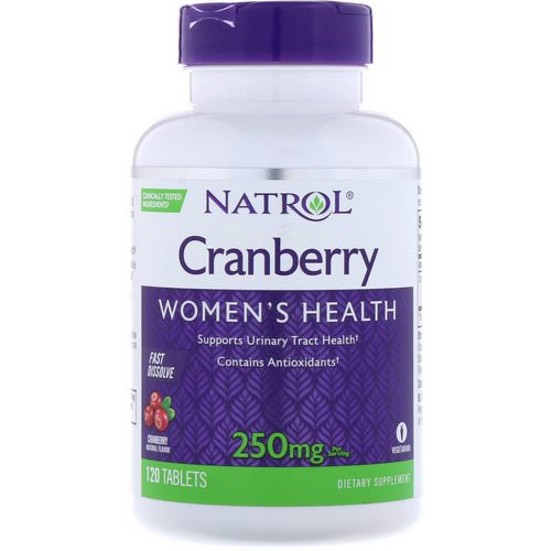 Natrol, Cranberry, Fast Dissolve, Cranberry Flavor, 250 mg, 120 Tablets Review