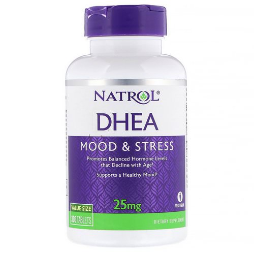 Natrol, DHEA, 25 mg, 300 Tablets Review