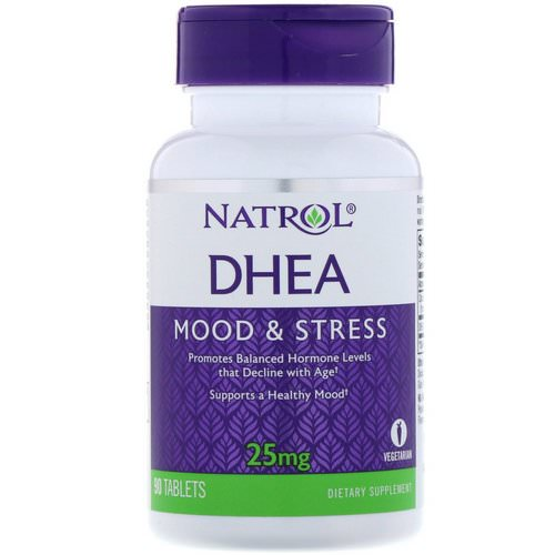 Natrol, DHEA, 25 mg, 90 Tablets Review
