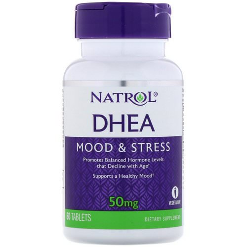 Natrol, DHEA, 50 mg, 60 Tablets Review